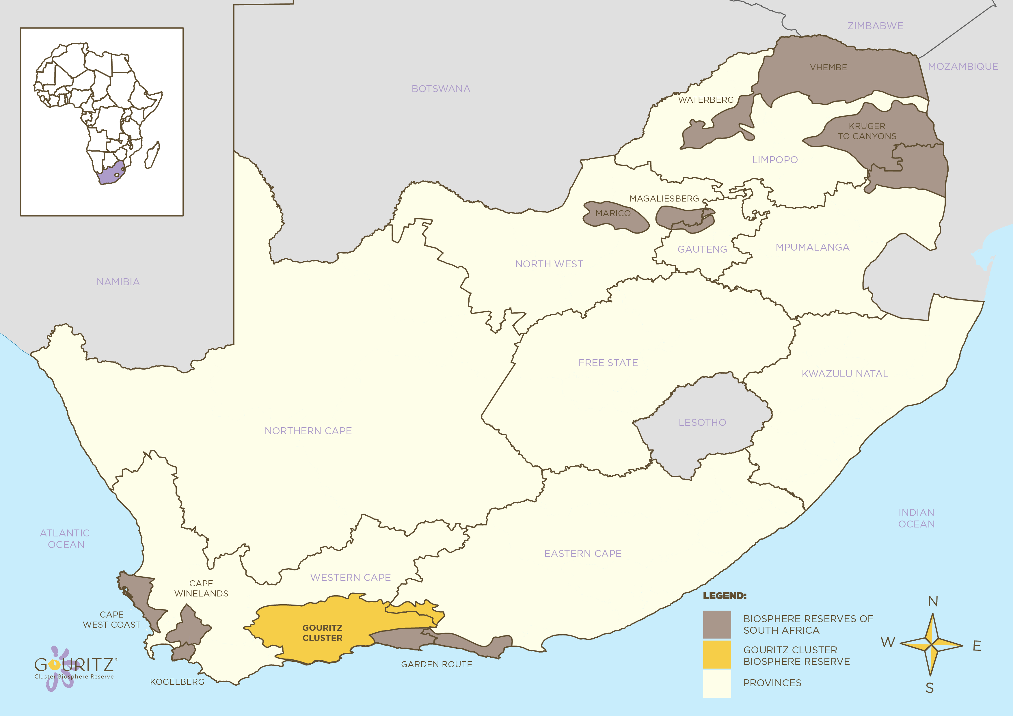GCBR Location in South Africa